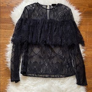 Who What Wear lace top